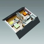 Charpente Francaise_Maison 104_Etage_HD